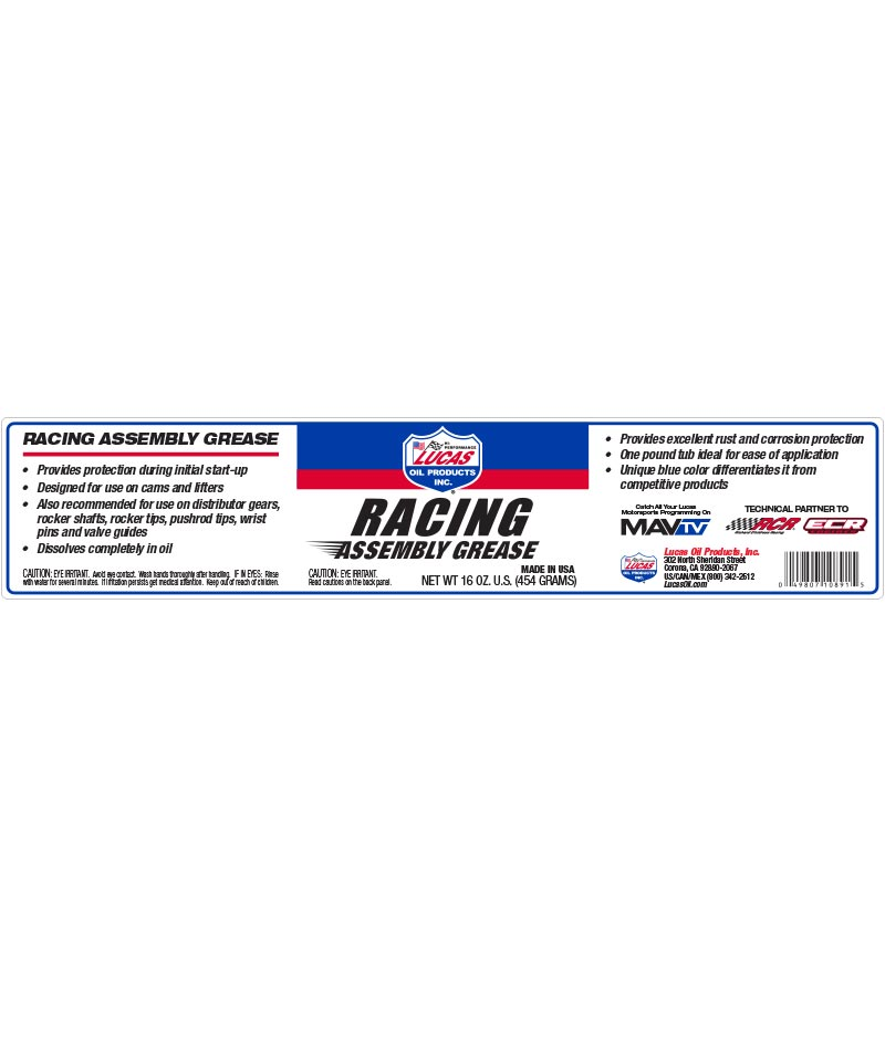 Grasso Per Assemblaggi Racing al solfonato di Calcio Grasso